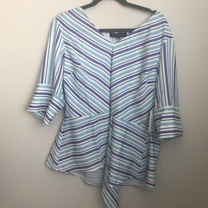NWT Eloquii Striped Blouse